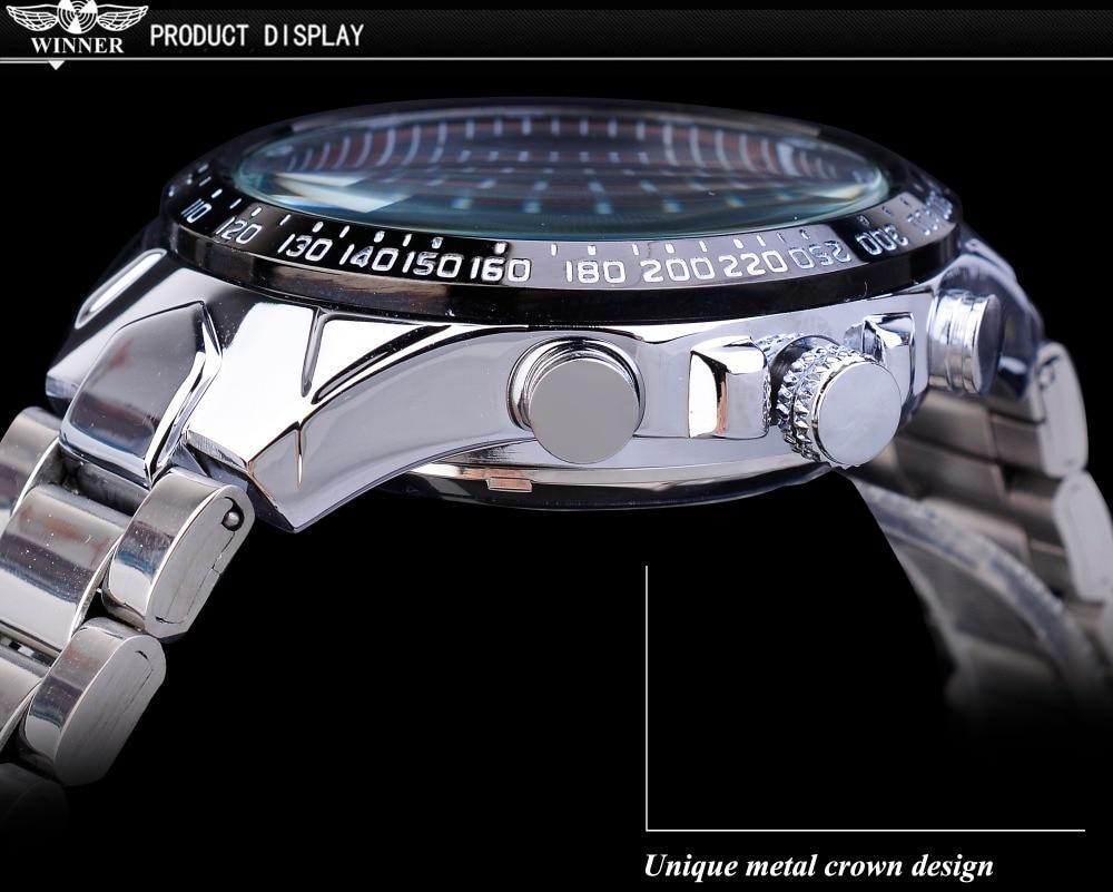 H1a818bf9a82644d38f140cbbc20fb43bK Winner Classic Series Golden Movement Steel Mens Skeleton Man Wrist Watch Mechanical Top Brand Luxury Fashion Automatic Watches
