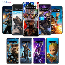 Marvel Avengers Super Hero Groot For Samsung Galaxy S21 S20 FE Ultra S10 Lite S9 S8 Plus S7 5G TPU Silicone Black Phone Case