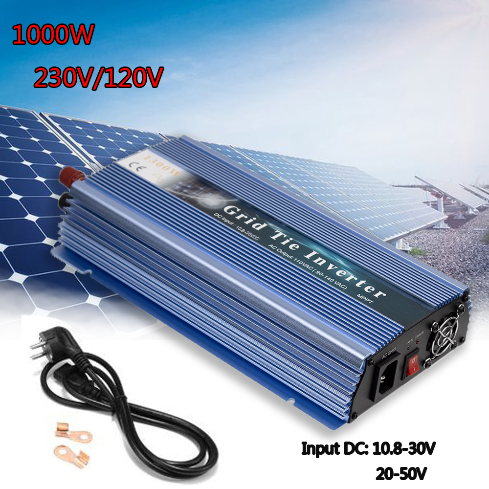 18/24/36V Micro Solar Inverter Pure Sine Wave 1000W MPPT On Grid Tie Inverter Inversor Output 110/220V For Solar Wind Generator
