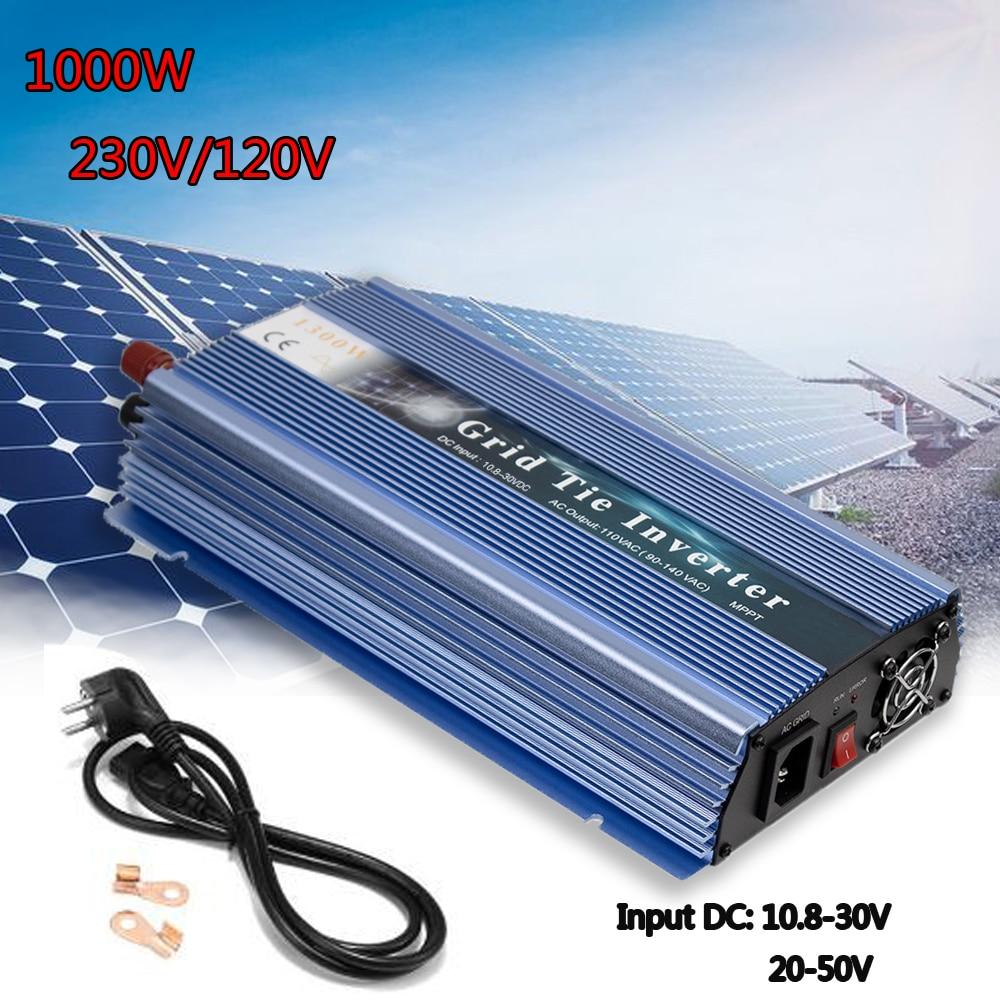 18/24/36V Micro Solar Inverter Pure Sine Wave 1000W MPPT On Grid Tie Inverter Inversor Output 110/220V For Solar Wind Generator