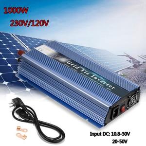 Микро солнечный инвертор 18/24/36 в, чистый синусоидальный инвертор 1000 Вт MPPT на сетку инвертор выход 110/220 в для солнечного ветрогенератора