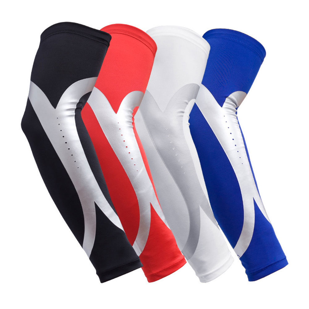 1~2Pcs Ice Fabric Breathable UV Protection Running Arm Sleeves Fitness Basketball Elbow Pad Sport Cycling Outdoor Arm Warmers