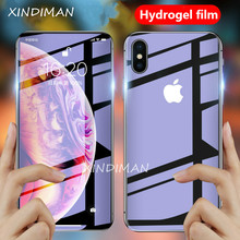 25D Soft hydrogel Film for iphoneX XS XR XSMAX screen protector iphone6 6s 6plus 7 7plus 8 8plus front+Back protective-Film