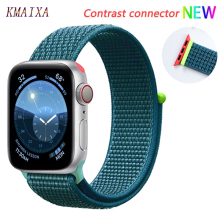 Ремешок для apple watch 5 4 band correa apple watch 42 мм 44 мм 38 мм 40 мм iwatch series 5 4 3 2 1 нейлоновый браслет pulseira