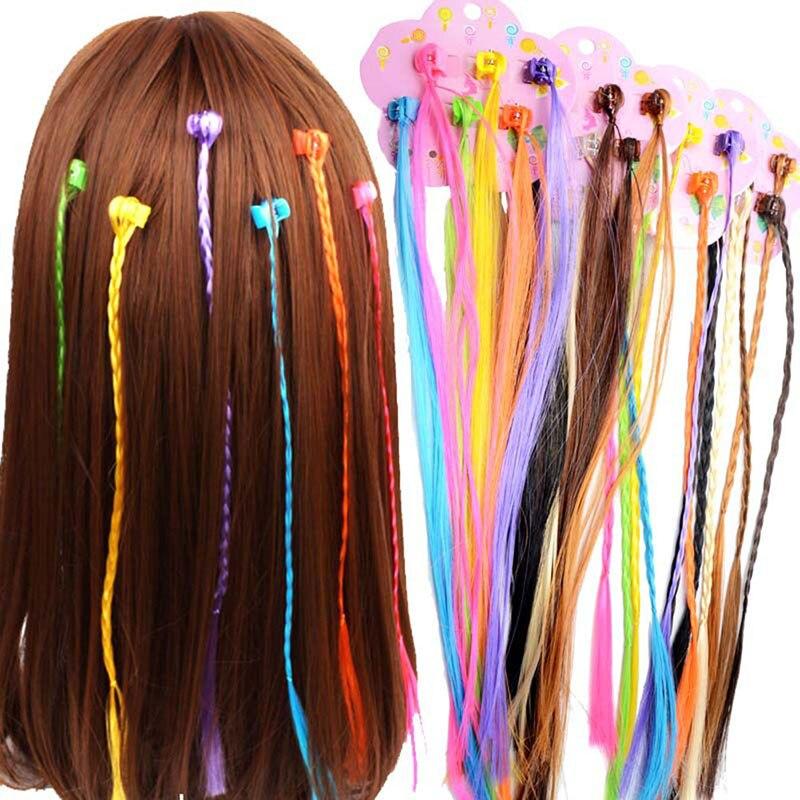 6Pcs Fashion Hair Accessories Girls Small Claw Clip Color Wig Twist Braid DIY Women Hair Accessories Curls Straight Hair 2019