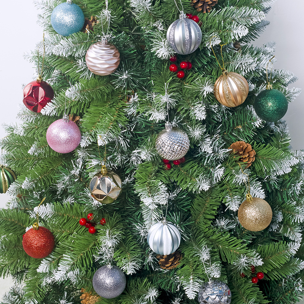 12pcs / A Lot Of 60mm Christmas Tree Decoration Ball Pendant Christmas Party Hanging Ball Decoration Christmas Ornaments Christm