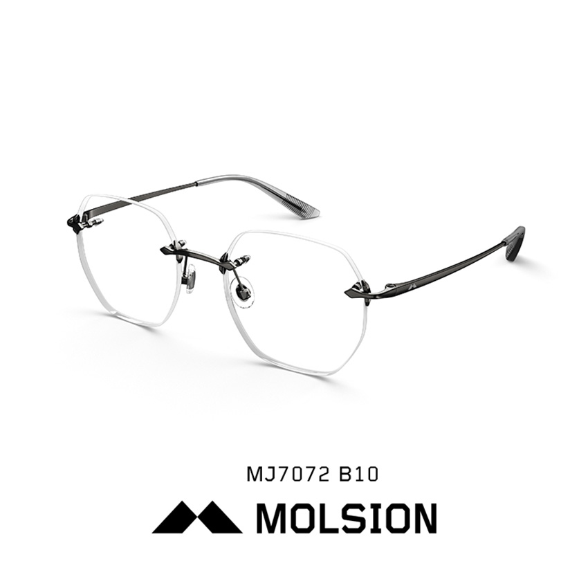 Men Women Rimless metal strong comfortable optical frames with clear lens