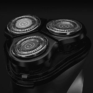 Image 4 - Youpin Enchen שחור אבן 3D לצוף ShaverHead כפול טבעות תער חותך ראשי CutterHead לגברים מתנה מיקום ShaverHead
