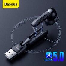 Беспроводные наушники Baseus 5,0 с магнитной зарядкой, Bluetooth наушники с микрофоном, гарнитура для вождения, наушники для телефона наушники беспроводные