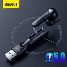 Baseus Draadloze 5.0 Oortelefoon Magnetische Opladen Bluetooth Oortelefoon Met Microfoon Handsfree Headset Rijden Oordopjes Oortelefoon Voor Telefoon