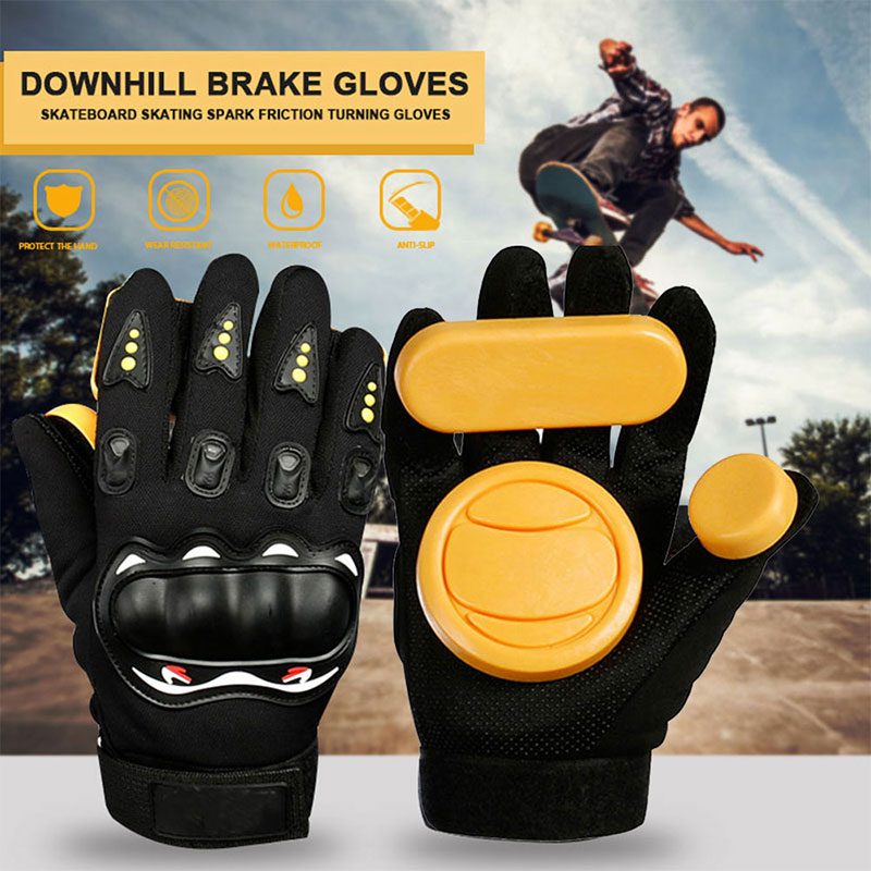 Longboard Skateboard Gloves Skateboard Gloves Armguard Protector Slider Black Sliding Professional Thicker Sports