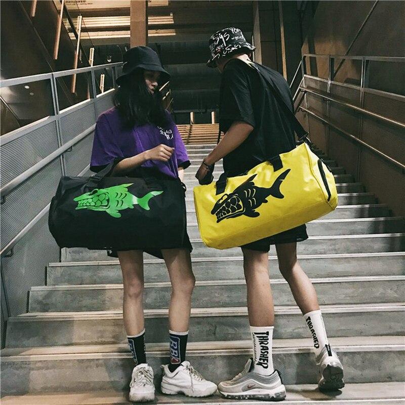 Fashion Shark Handbag Travel Sport Gym Bag Men Swim Train Waterproof Shoe Pouch Yoga Duffle Bag Student Big Capacity Luggage Bag
