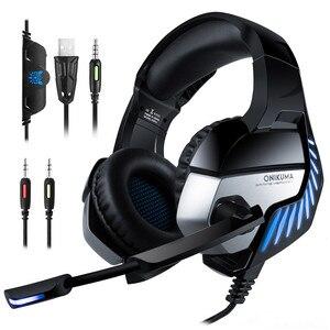 Image 1 - K5 Pro 3,5mm Gaming Kopfhörer 7,1 Virtuelle HiFi Stereo Bass Headset Kopfhörer Mit Geräuschisolation Mikrofon für PUBG PS4 PC Laptop