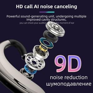 Image 2 - Kablosuz kulaklık Bluetooth kulaklık kulakiçi otomatik eşleştirme yükseltme ile IPX5 su geçirmez HD çağrı iş kulaklık Intkoot