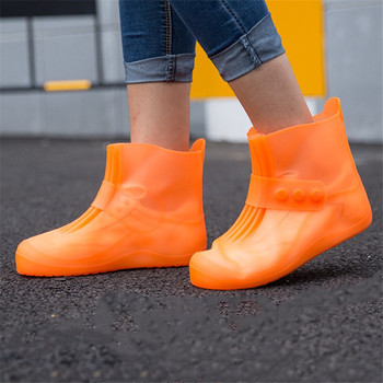 1 Pair Reusable Non-slip Rain Covers Shoes Waterproof high top cover shoes Silicone Shoe Cover Outdoor boots covers waterproof shoes cover waterproof silicone waterproof outdoor rainproof hiking skate shoes covers camping accessories
