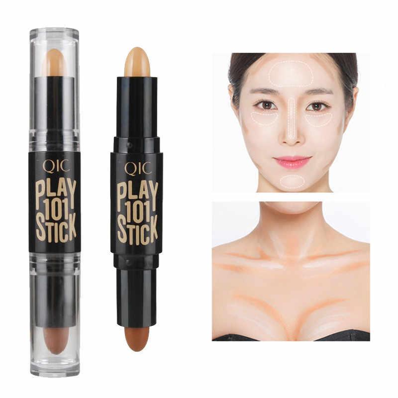 2018 nowy dwustronny 2 in1 Contour Stick Makeup kremowy wyróżnienia Bronzer stwórz 3D korektor do twarzy pełna pokrywa skazy Hot NEW