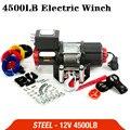 12 В 4500lb электрическая лебедка с дистанционным управлением  набор тяжелых ATV трейлеров  высокопрочная стальная электрическая лебедка