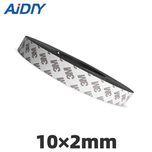 Aidiy 1Meter Rubber Magnet 10×2mm strong self adhesive flexible Magnetic Strip Tape width 10 mm thickness 2