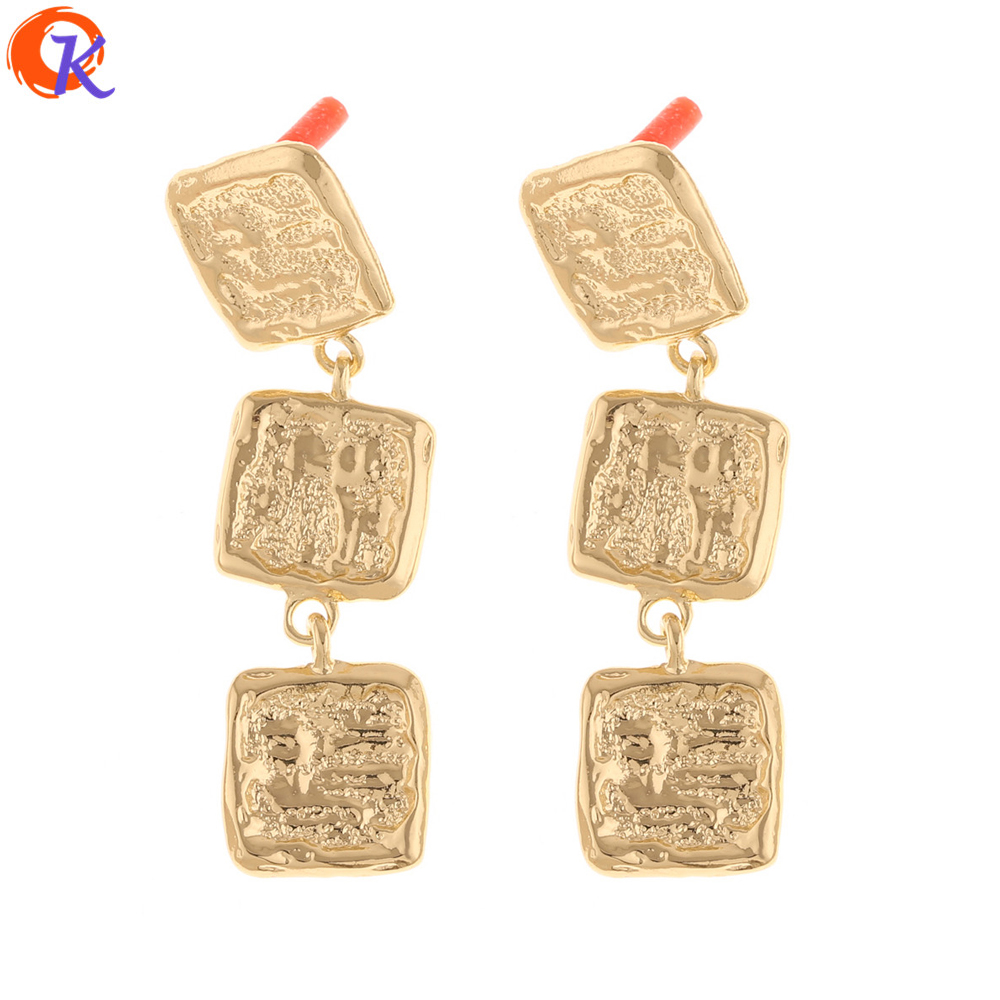 Cordial Design 50Pcs 14*53MM Jewelry Accessories/Earrings Stud/Hand Made/Geometry Shape/DIY Jewelry Making/Earring Findings