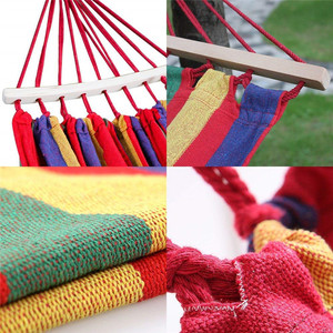 Image 5 - Outdoor Double Canvas Hammock Portable Travel Camping Hanging Chair Swing Chair Hammock Tent Free Shipping
