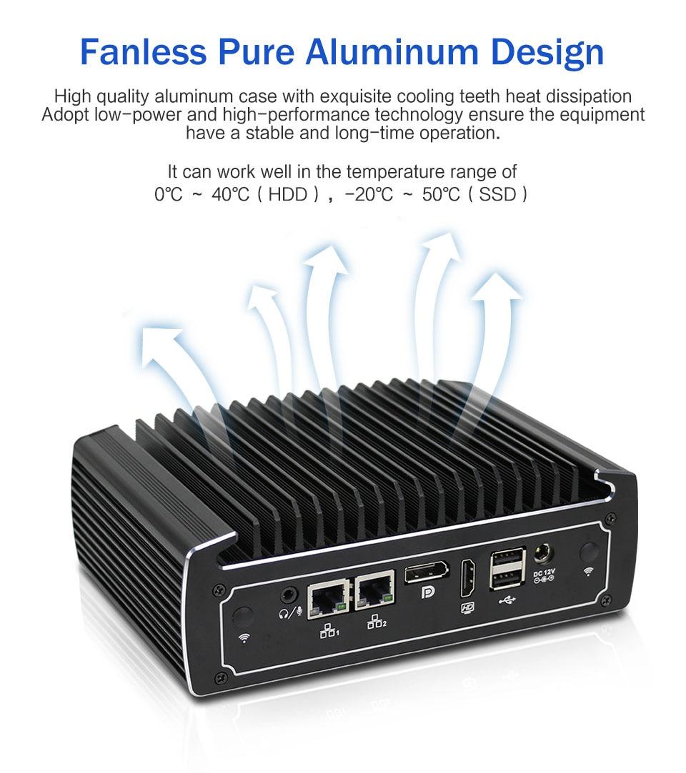 Fanless Nuc Mini Gaming Pc I7 8550U I5 8250U Quad Core DDR4 RAM Mini Desktop Win10 Pro UHD 620 4K HTPC AC Wifi HD
