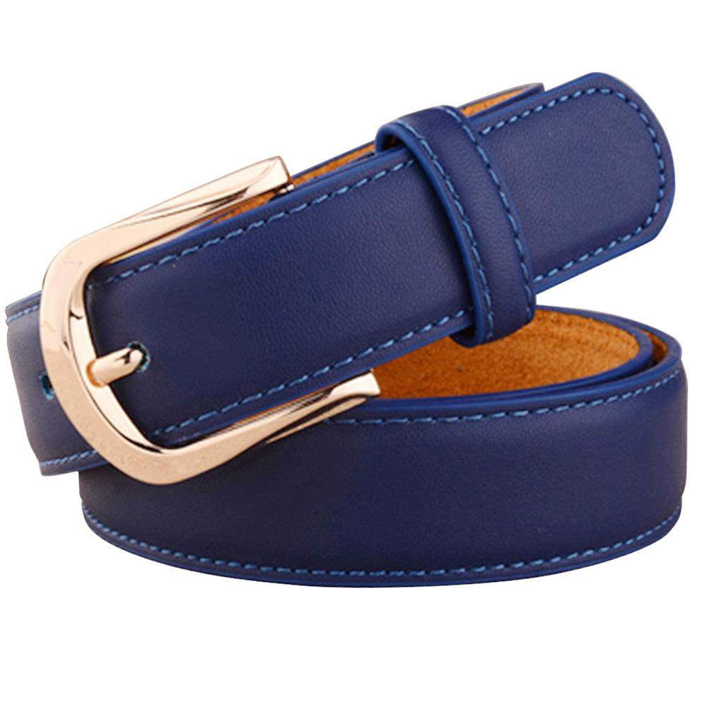 AKTRIS Women Belts Luxury Brand Blue Genuine Leather Fashion Women's Pin Buckle Belt 28mm Wide Female Accessories 2019 FCO078