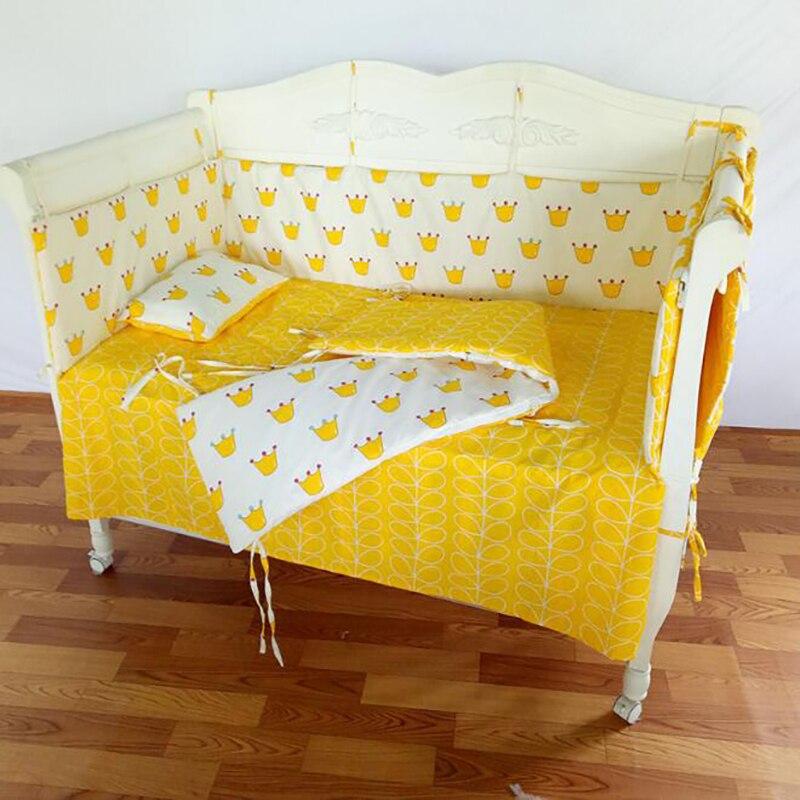 5 pièces/ensembleensemble de literie bébé nouveau-né coussin bébé berceau literie coton couette taie d'oreiller enfants chambre décor BWZ019
