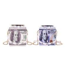 Женские сумки через плечо с принтом в виде наличных денег стиле