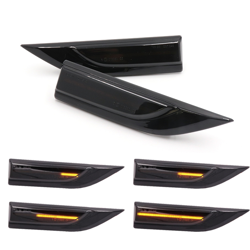 Niscarda 2x Dynamic Sequential LED Side Marker Turn signal <font><b>Light</b></font> Indicator Repeater For <font><b>VW</b></font> Transporter <font><b>T6</b></font> Caddy image