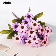 1Pcs  Daisy Artificial Flowers Branch Mothers Day Decoration Home Non-woven Fabrics Silk Twigs Ywigs