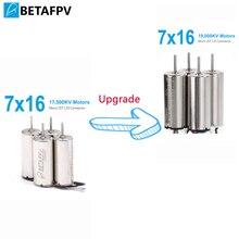 BETAFPV 7x16mm מנוע 19000KV מוברש מנועים עם JST 1.25 מחבר עבור מיקרו FPV זעיר וופ Beta65S מסגרת