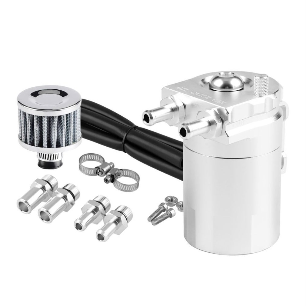 300ML Zylinder Öl Fangen Aluminium Motoröl Fangen Reservoir Verschnaufpause Tank/Können W/ Filter