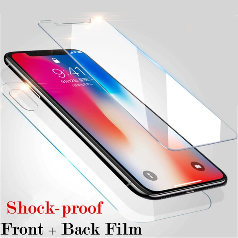 Front and Back 360 Full Cover Glass Flim for Apple IPhone 11 Pro Max XS XR X 8 7 6 6S Plus Protective Skin Sticker Accessories