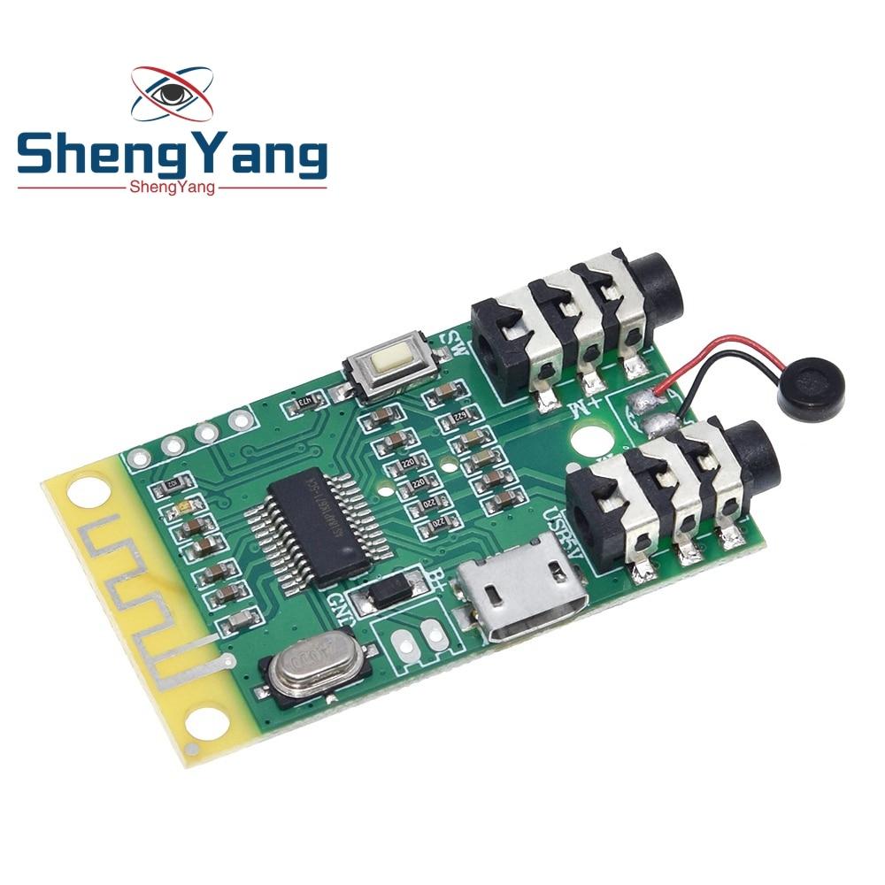 Placa receptora y transmisor de audio, Bluetooth 4,2, 3,7 V ~ 5V, distancia de 10M, decodificación MP3, módulo inalámbrico, altavoces, audio diy de 3,5mm