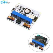 Iot: placa de expansão de bit esp8266, esp12f interralado wi fi/rtc/módulo de buzzer passivo para lego micro:bit