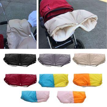 Zimowe ciepłe wózki dziecięce rękawiczki dziecięce wózki ręczne wodoodporne wózki dziecięce Mitten tanie i dobre opinie QILEJVS CN (pochodzenie) COTTON Stroller Gloves 0-3 M baby stroller car gloves