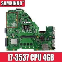 X550CA i7-3537/3517 CPU 4GB RAM Motherboard Para ASUS R510C Y581C X552C X550CA X550CC X550CL X550C laptop Mainboard Teste ok