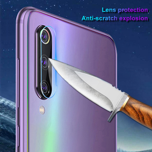 Image 3 - 2 in 1 Full Cover Tempered Glass For Xiaomi Mi A3 Lite Back Camera Lens Screen Protector Glass For Xiaomi Mi A3 Camera Lens Film