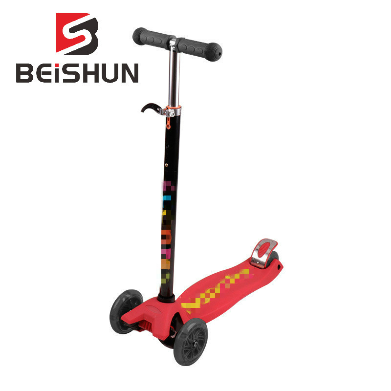 Children's Scooter 3-14 Years Old Four-wheel Flash Wheel Non-slip Silicone Letter Scooter