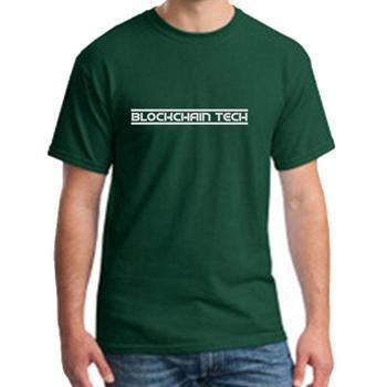 fashion Blockchain Tech t-shirt girl boy Famous humorous streetwear homme tee t shirts Round Collar hip hop