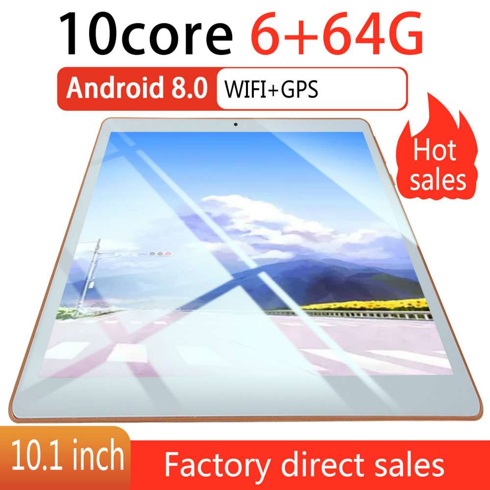 10 Inches New Original Andriod Tablet 8.0 Dual SIM 4G Phone Tablet PC 6G+128G ROM Tablet GPS Phone Pad Tablet 10.1 Gift Tablet