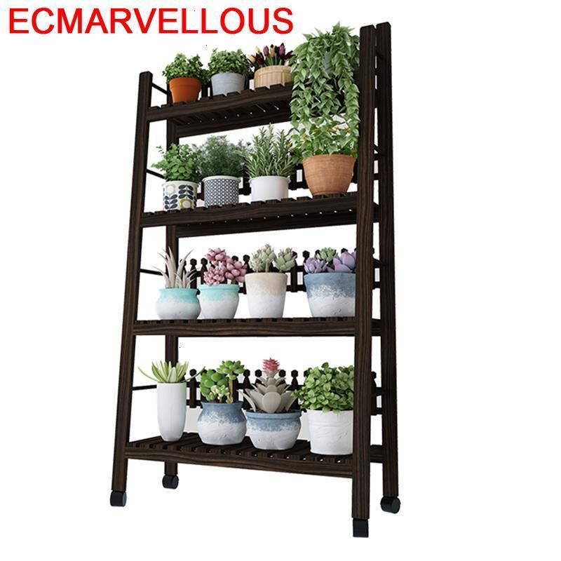 Estanteria Para Plantas Pour Terraza Indoor Etagere Plante Suporte Flores Balcony Dekoration Outdoor Flower Shelf Plant Stand