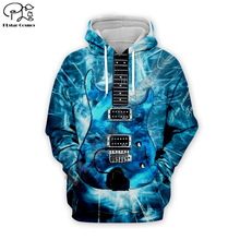 Men Electric Guitar 3D Print DJ Hoodies casual Hip Pop ice Sweatshirt unisex zipper pullover Harajuku tracksuit women tshirt