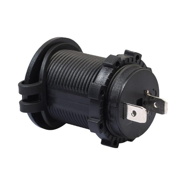12V Waterproof Car Cigarette Lighter Socket Auto Boat Motorcycle Tractor Power Outlet Socket Receptacle Car Accessories Dropship