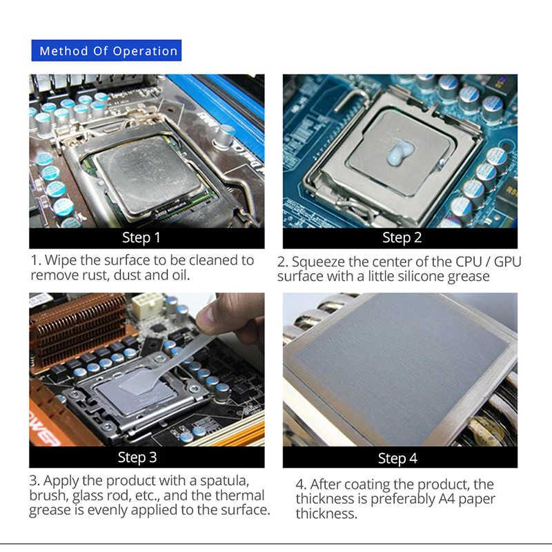 1 グラム 4 グラム熱伝導性グリースシリコンシルバー Amd のインテルプロセッサ CPU クーラー冷却ファン VGA 化合ヒートシンク石膏