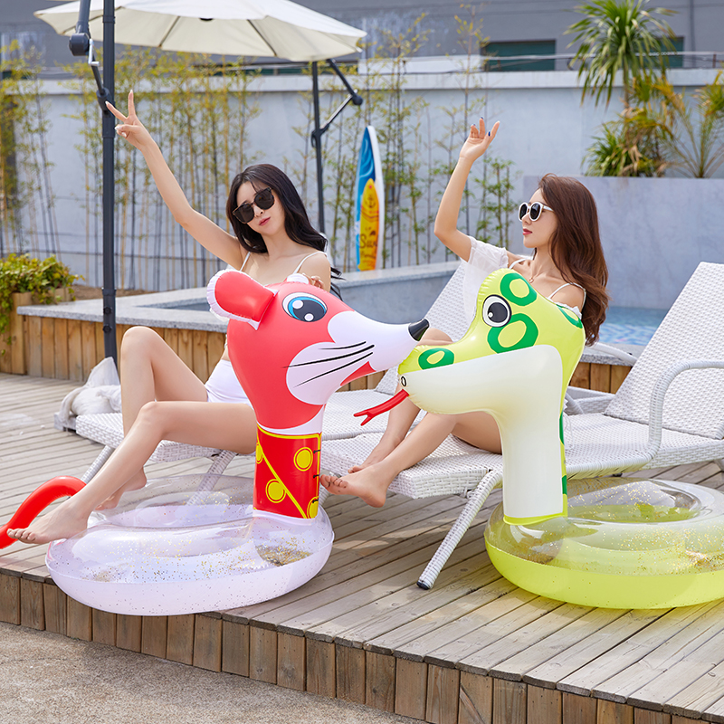 12 Style Inflatable Circle Baby Animal Float Swimming Ring Inflatable Unicorn Pool Float Child Seat Air Mattresse Water Toys
