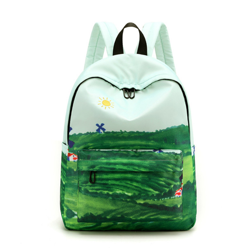 2019 Latest Design Backpack Splash-proof Field City Print Bag 3D Harajuku Backpack Teenage Girl Backpack School Bag
