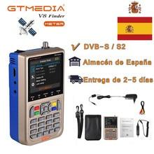 Heißer Spanien GTMEDIA V8 Finder Meter DVB-S2/S2X FTA Digital Satellite SatFinder HD Satellite Finder Tool LCD Sat Finder lnb Signal