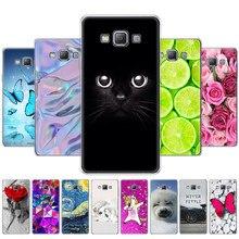 Capa para samsung galaxy a5 2015 capa de telefone macio silicone capa para samsung a5 a500h a500f 5.0 polegada caso do telefone coque gato flor