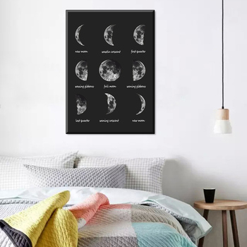 Design Nordic Canvas Painting Prints black moon poster wall art pictures home decor on the wall Fashion Gift s20-0102-2